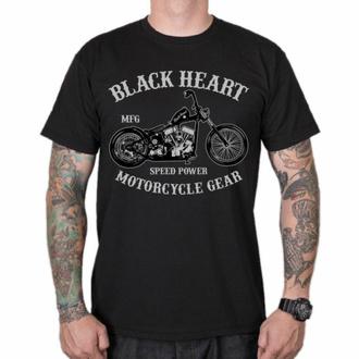 tričko pánské BLACK HEART - CHOPPER - BLACK, BLACK HEART