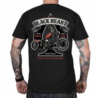tričko pánské BLACK HEART - ORANGE CHOPPER - BLACK, BLACK HEART
