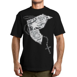 tričko pánské  FAMOUS STARS & STRAPS - Chuey Rosary Boh - Black