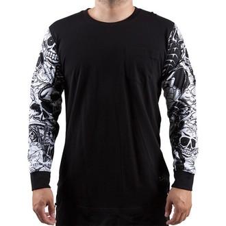 tričko pánské s dlouhým rukávem FAMOUS STARS & STRAPS - Mash Up - Black - FM03150017