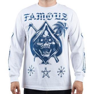 tričko pánské s dlouhým rukávem FAMOUS STARS & STRAPS - Relax Reaper - White - FM03150059