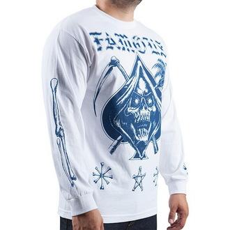 tričko pánské s dlouhým rukávem FAMOUS STARS & STRAPS - Relax Reaper - White, FAMOUS STARS & STRAPS