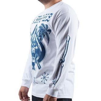 tričko pánské s dlouhým rukávem FAMOUS STARS & STRAPS - Relax Reaper - White