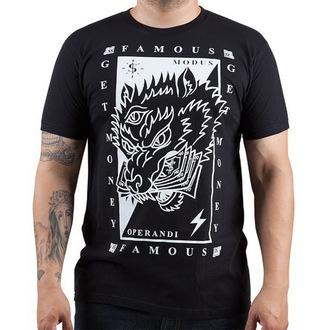 tričko pánské FAMOUS STARS & STRAPS - Wolf Money - Black
