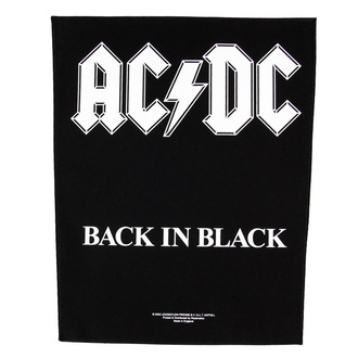 nášivka velká AC/DC - Back In Black - RAZAMATAZ, RAZAMATAZ, AC-DC