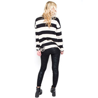 svetr dámský IRON FIST - Urban Decay Stripe - BLK/Offwht