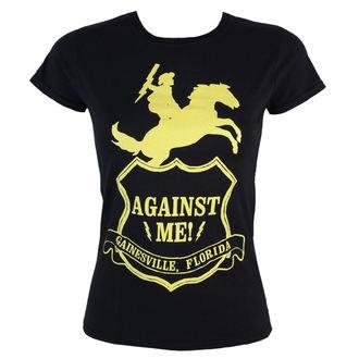 tričko dámské - Against Me -Shield - Black - KINGS ROAD, KINGS ROAD, Against Me!