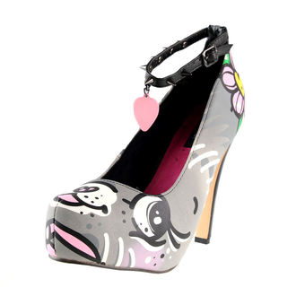 boty dámské (střevíce) IRON FIST - Pussycat Platform - Grey, IRON FIST