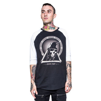 tričko pánské s 3/4 rukávem IRON FIST - Throne - Black/White, IRON FIST