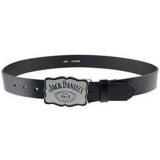 pásek Jack Daniels - Curved Plate - W/Black, JACK DANIELS