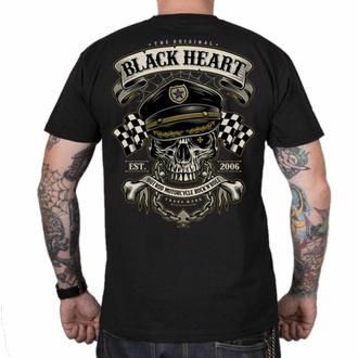 tričko pánské BLACK HEART - OLD SCHOOL RACER - BLACK, BLACK HEART
