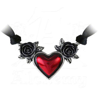 obojek ALCHEMY GOTHIC - Bloodheart Rose - P746