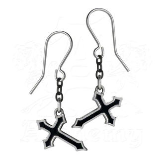 náušnice ALCHEMY GOTHIC - Sorrow Cross Earrings