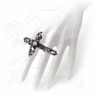 prsten ALCHEMY GOTHIC - Thorny Cross Handspan, ALCHEMY GOTHIC