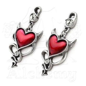 náušnice ALCHEMY GOTHIC - Devil Heart Studs - ULFE22