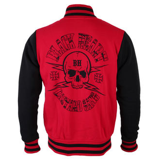 mikina pánská BLACK HEART (Baseball) - Skull Red - Red
