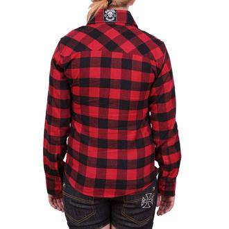 košile dámská BLACK HEART - Redneck Girl - Black/Red, BLACK HEART