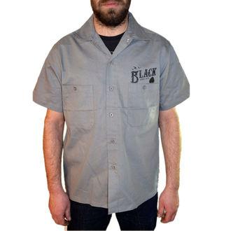 košile pánská BLACK HEART - Wrench Skull - Grey, BLACK HEART