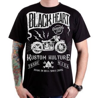 tričko pánské BLACK HEART - Vintage Bike - Black - BH075