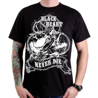 tričko pánské BLACK HEART - Neverdie - Black - BH077