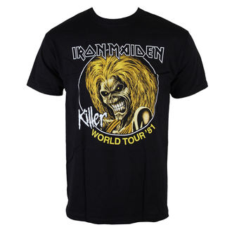 tričko pánské Iron Maiden - Killers World Tour 81 - Blk - ROCK OFF, ROCK OFF, Iron Maiden