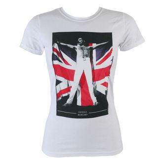 tričko dámské Freddie Mercury - Flag - BRAVADO, BRAVADO, Queen