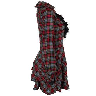 šaty dámské DEAD THREADS - Blk/Red/Grey