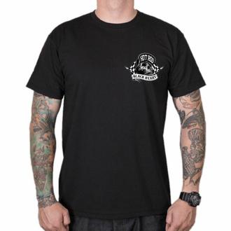 tričko pánské BLACK HEART - HOTRODER SKULL - BLACK, BLACK HEART