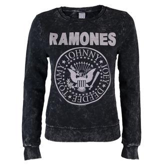 mikina dámská Ramones - Macrame Sweat - BLK - AMPLIFIED - AV747RAM