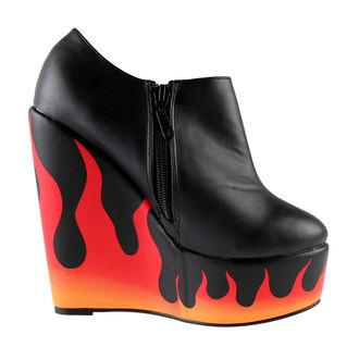 boty dámské IRON FIST - Fire Sign Wedge - Black