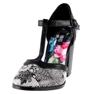 boty dámské (střevíce) IRON FIST - Midnight Widow Heel - Black/White - IFW05055