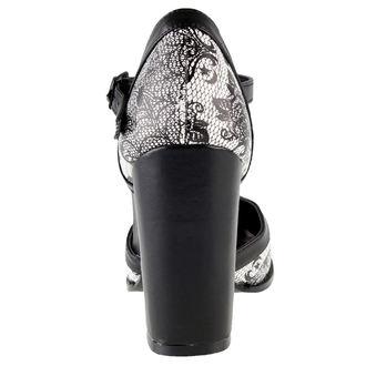 boty dámské (střevíce) IRON FIST - Midnight Widow Heel - Black/White