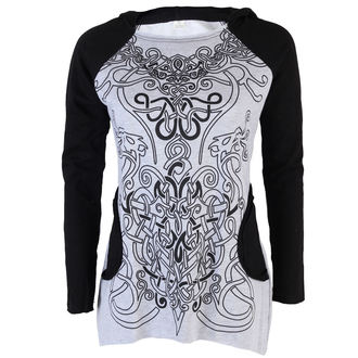 tričko dámské s dlouhým rukávem (tunika) ALISTAR - Viking Symbols - Grey