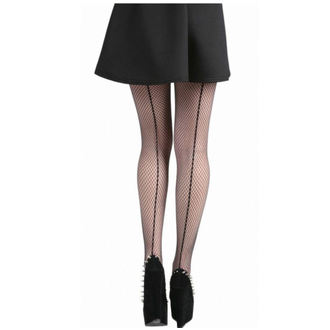 punčocháče PAMELA MANN - Fishnet Seamed Tights - Black - PM246