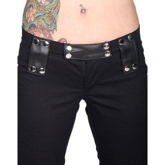 kalhoty dámské BLACK PISTOL - Stud Low Cut Denim - Black