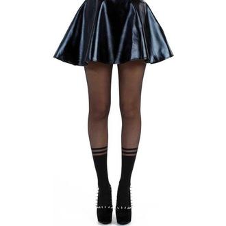 punčocháče PAMELA MANN - Stripe Tocks - Black - PM238