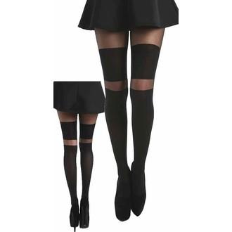 punčocháče PAMELA MANN - Stripe Wide OTK - Black