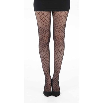 punčocháče PAMELA MANN - Checkers Net - Black - PM232