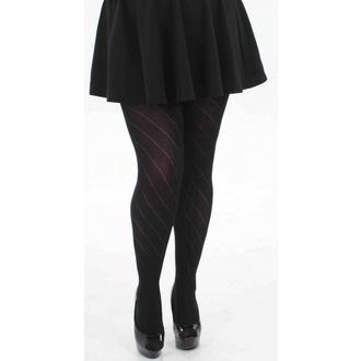punčocháče PAMELA MANN - Diagonal Opaque - Black, PAMELA MANN