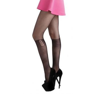 punčocháče PAMELA MANN - Lace Up Knee - Black - PM259