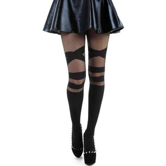 punčocháče PAMELA MANN - V Strap Sheet - Black - PM218