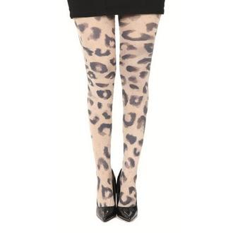 punčocháče PAMELA MANN - Big Leopard Printed - Natural - PM219