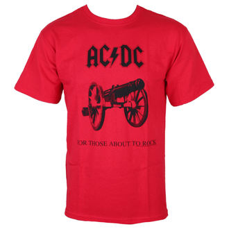 tričko pánské AC/DC - For Those about to rock - RED - LOW FREQUENCY - ACTS05004