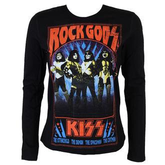 tričko dámské s dlouhým rukávem KISS - Rock goods - BLK - LOW FREQUENCY, LOW FREQUENCY, Kiss