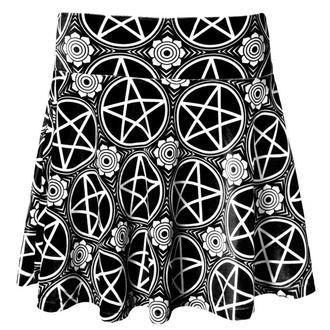 sukně dámská KILLSTAR - Pentagram Velvet - Black - KIL088