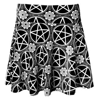 sukně dámská KILLSTAR - Pentagram Velvet - Black, KILLSTAR