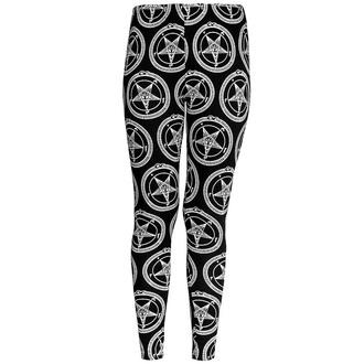 kalhoty dámské (legíny) KILLSTAR - Baphomet - Black, KILLSTAR