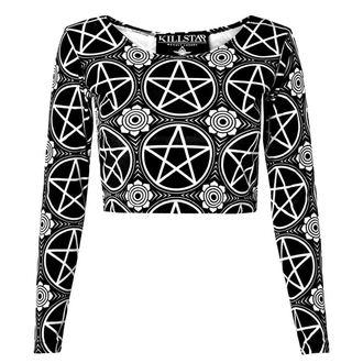tričko dámské (top) KILLSTAR - Pentagram Velvet - Black - KIL037