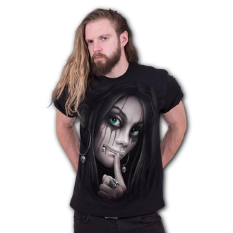 tričko pánské SPIRAL - ZIPPED - Black, SPIRAL