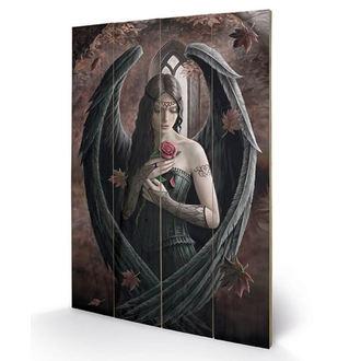 dřevěný obraz ANNE STOKES - (Angel Rose), ANNE STOKES